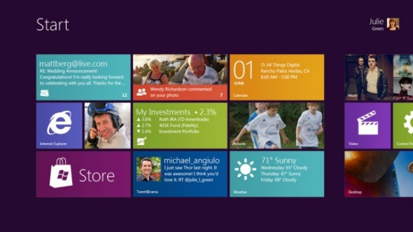 Windows 8 Touch Interface