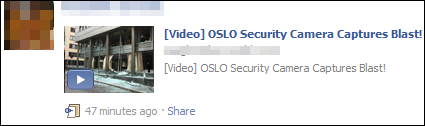 Facebook Oslo Bombing Video Scam s