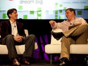 Arrington (TechCrunch) and Tim Armstrong (AOL)