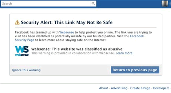Facebook tightens up security with Websense