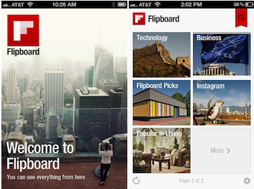 Flipboard on the iPhone