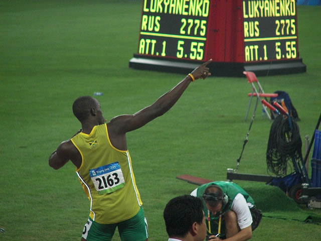 Photograph of Usain Bolt