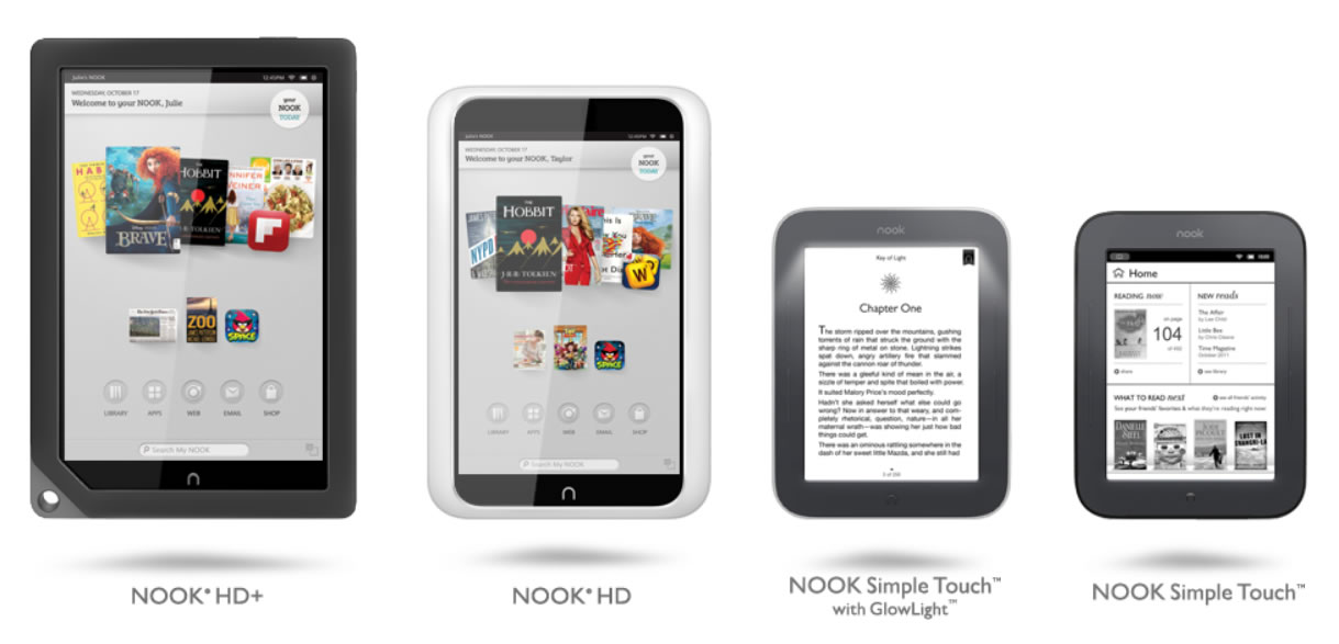Nook tablets and e-readers
