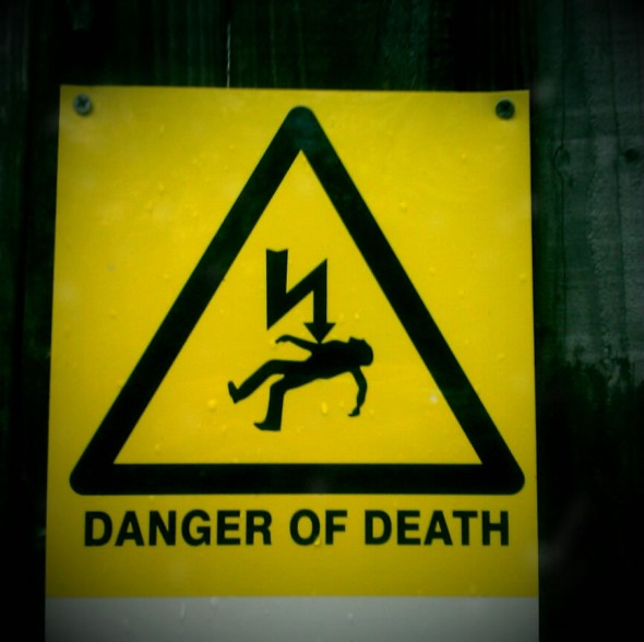 Danger of death by electrocution