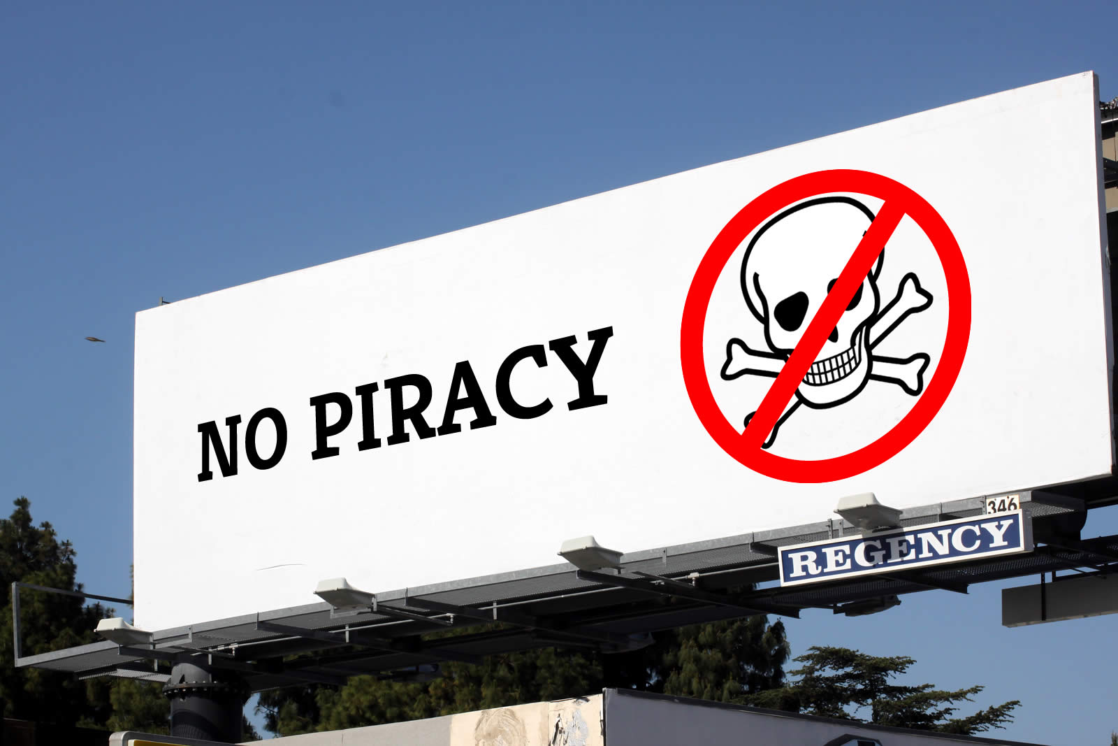 No Piracy billboard ad