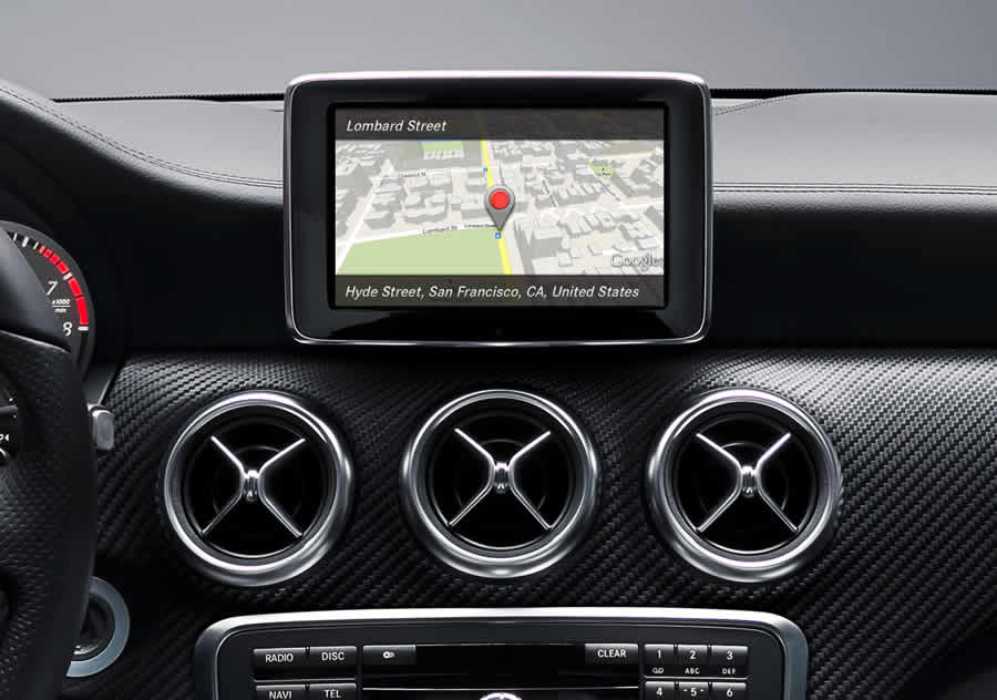 Mercedes Benz with Google Maps integration