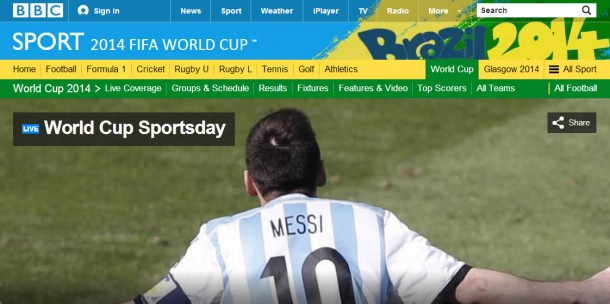 BBC Sport: World Cup