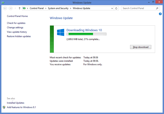 How to force download and install Windows 10 immediately