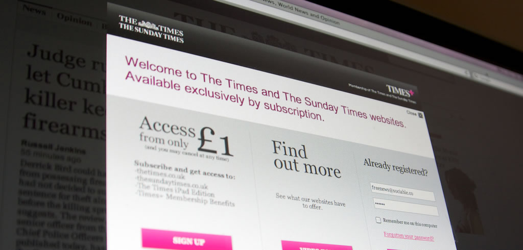 The Times paywall