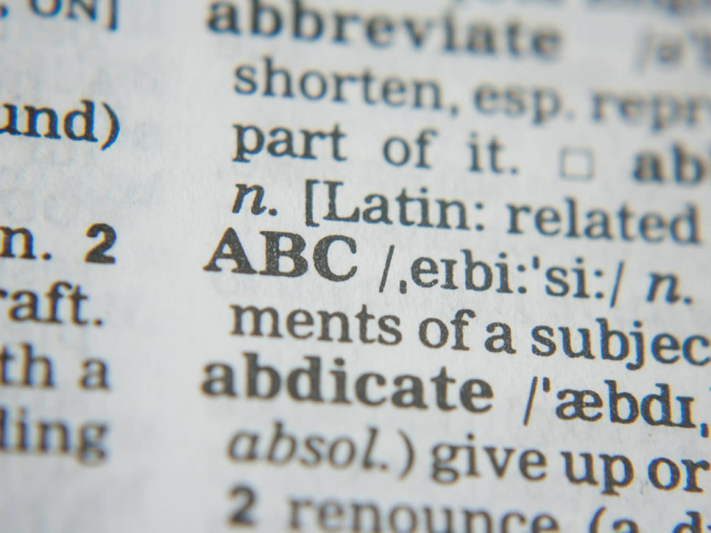 Dictionary / ABC