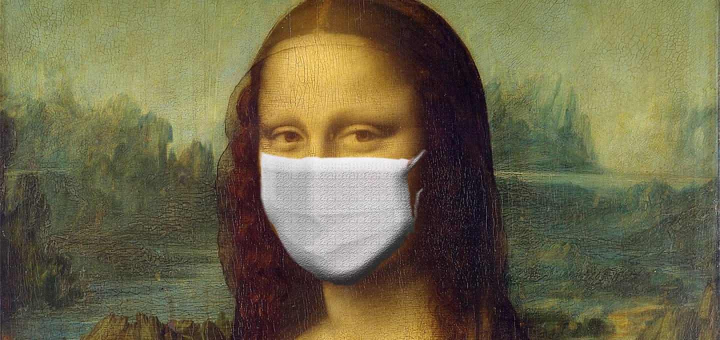 Mona Lisa in a coronavirus mask